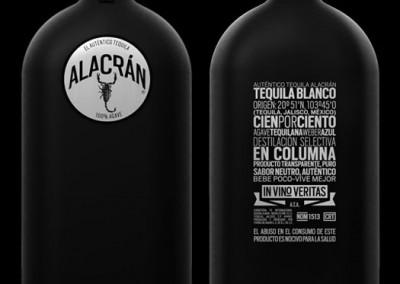 Tequila Alacran negro