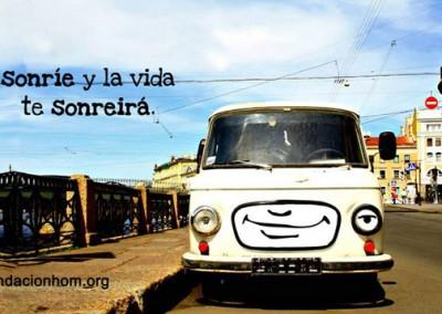 sonrie a la vida y la vida te sonreira