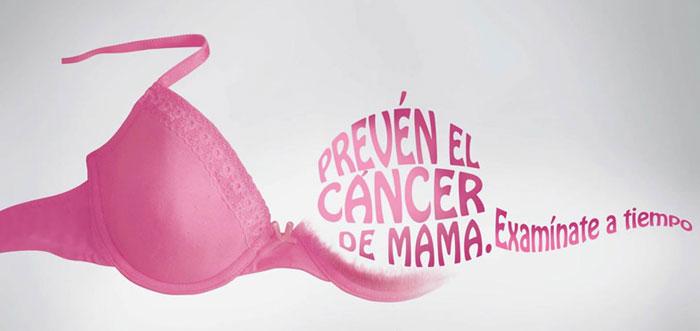 cáncer de mama cartel anuncio