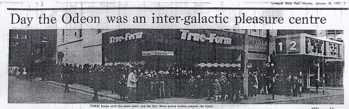 Star Wars UK 1978 odeon Liverpool