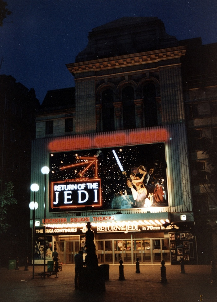 Star Wars film UK Return of the Jedi billboard