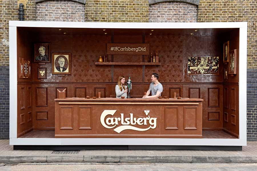 Carlsberg chocolatea la cerveza