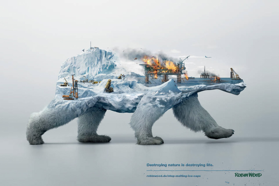 robin wood artic destroy nature destroying life
