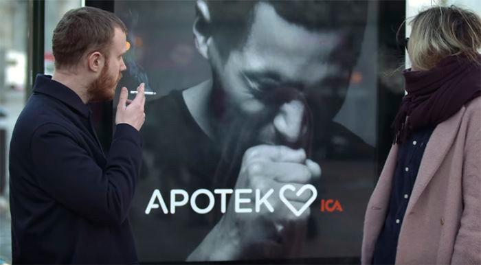 mupi interactivo dejar de fumar tos