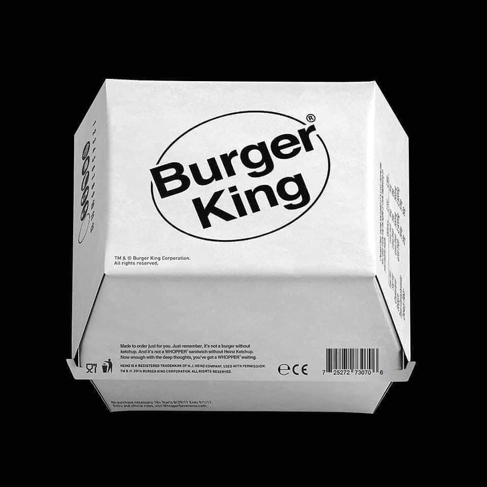 brutalismo burger king packaging
